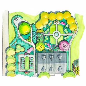 a landscape design