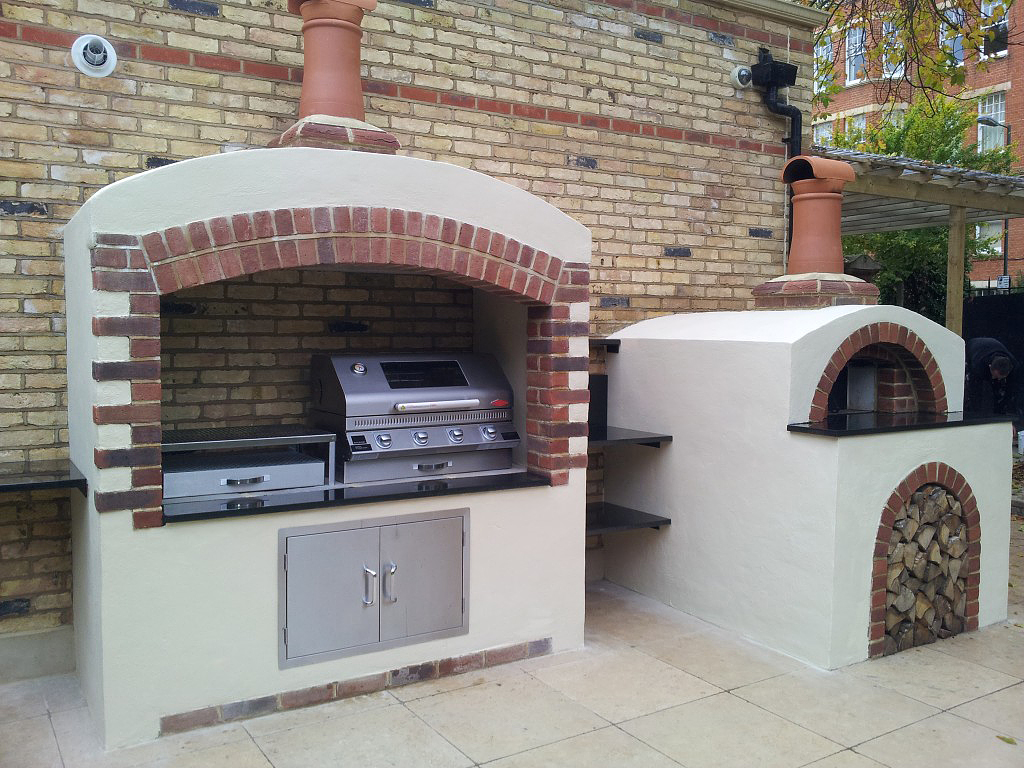 authentic wood fired pizza oven builds in surrey oven and garden kitchen for holly willoughby